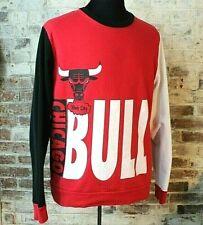 Chicago Bulls NBA Retro Hardwood Classic Windy City Sweatshirt Mens M Colorblock