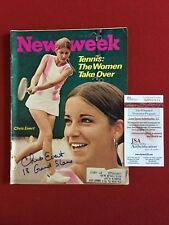 "1972, Chris Evert,""Autographed"" (JSA), ""Newsweek"" Magazine (Full Signature)"