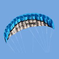 2.5m Dual Line Parafoil Parachute Stunt Sport Beach Outdoor Kite Birthday Gift
