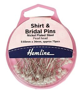 HEMLINE PEARL HEAD SHIRT & BRIDAL PINS