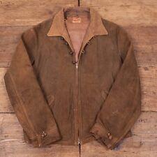 "Very Rare Mens Vintage 1930s Talon Zip 'Outwareknit' Suede Leather S 36"" R2879"