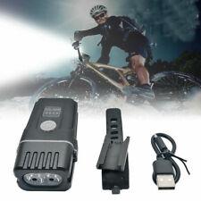 Bike Bicycle LED Lights USB Rechargeable Set Mountain Front Headlight Waterproof