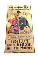 Vintage Large Spanish Matador | Plaza De Toros De Palma De Mallorca Poster 20x40