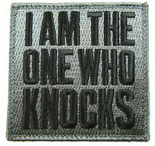 I AM THE ONE WHO KNOCKS WALTER BAD ACU DARK ISAF TACTICAL MORALE HOOK PATCH