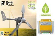 Set 700w 12v viento generador, istabreeze ® Hybrid LR aerogenerador, viento Turbine