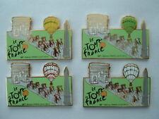 LOT DE 4 PIN'S TOUR DE FRANCE CYCLISTE 2012