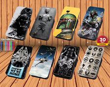 Guerra de las galaxias para iPhone y Samsung Abatible de Cuero Cartera Cubierta