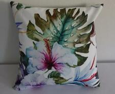 Watercolour Painted Lillies Tropical Suede Look Cushion Cover 45cm