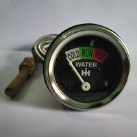 Water Temperature Gauge For IH Farmall Tractors IHWA03 With Chrome Bezel
