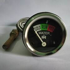 Water Temperature Gauge For IH Farmall Tractors IHWA04 With Chrome Bezel