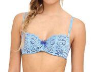 B.tempt'd by Wacoal Ciao Bella Balconette Bra Alaskan Blue 953144 Size 36C NEW