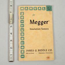 Vintage Megger Insulation Tester Ebay