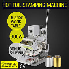 2 FOIL PAPER+STAMPING MACHINE HOT FOIL ID CARDS PVC PAPER CREDIT HIGH REPUTATION