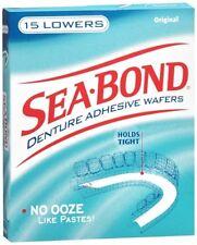 Sea Bond Denture Adhesive Wafers, Lowers, Original, 15 Ct
