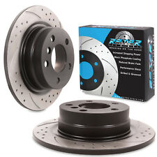 REAR GROOVED DRILLED 290mm BRAKE DISCS FOR BMW 1 SERIES F20 F21 114i 116i 118i