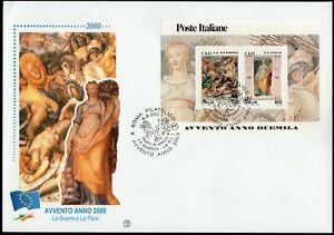 Repubblica, FDC Filagrano - Foglietto Avvento anno duemila, 04/09/2000