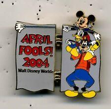 DISNEY WDW 2004 APRIL FOOL'S DAY FAB 3 GOOFY HINGED PIN LE