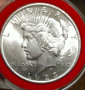 Look! This Is A Beautiful 1923 P Peace Dollar Uncirculated Gem!!