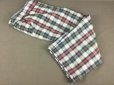 Liz Claiborne Red White & Blue Check 3/4 Length Cotton Trousers Size 18/20