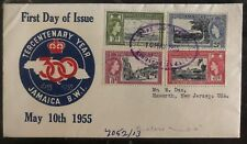 1955 Kingston Jamaica first day cover To Haworth NJ USA Tercentenary Year