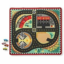 Round The Speedway Race Track Rug With 4 Cars (39 X 36 Fast Ship NO TAX