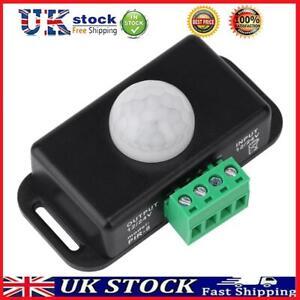 DC 12V/24V Automatic Body Infrared PIR LED Light Strip Motion Sensor Switch T#K
