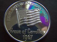 1967 Carrollton HIGHLIGHTS OF AMERICAN HISTORY Fine Silver HR MardiGras Doubloon
