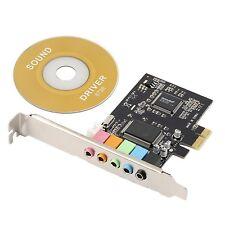 PCI Express PCI-E 5.1ch 6 Channels Digital CMI8738 3D Audio Sound Card SFF fo...