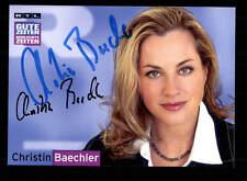 Christin Baechler GZSZ Autogrammkarte Original Signiert # BC 88016