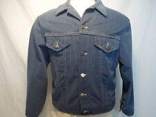 Vintage 70s Wrangler Jean Jacket made in USA size 44 Blue Denim trucker