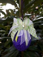 6 Ostereier  Strauchbehang Ostern Handarbeit lila/flieder/grün