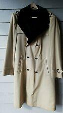 Vintage Mens Malcolm Kenneth Beige Faux Lined Trench Coat Regular Overcoat Large