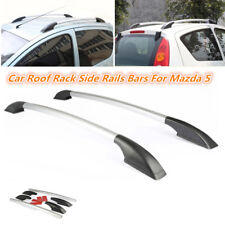 62.9'' Silver Aluminum Top Roof Rack Rail Luggage Carrier Bars Bar fr Mazda 5