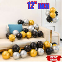 "12"" Metallic Latex Balloons Chrome Bouquet Wedding Birthday Party Supplies"