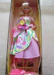 Mattel Barbie SPRING PETALS BARBIE (1996) SECOND In A Series Avon Exclusive NIB