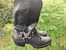 Killer TEXAS Biker SILVER EAGLE leather USA cowboy boots Shoes Mens Size 8 👞b3