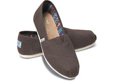 New Authentic TOMS Women's Classic Canvas Ash Ankle-High Flat Shoe - US size 10