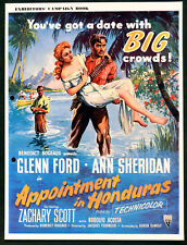 APPOINTMENT IN HONDURAS 1953 Glenn Ford, Ann Sheridan UK CAMPAIGN BOOK