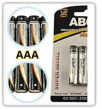 ABCell 2 x 1800mAh AAA RECHARGEABLE Ni-MH NiMH BATTERIES 1.2V - LR03 R03 1800