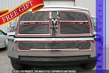 GTG 2013 - 2016 Dodge Ram 2500 3500 5PC Polished Overlay Billet Grille Grill Kit