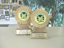 NEW RESIN CORN HOLE AWARD TROPHY SET CORNHOLE TROPHIES 1ST-2nd MRF11C,B