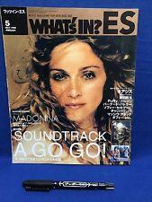 Madonna 1998 05 Japan Magazine Book What's In Oasis Puffy AmiYumi Bernard Butler