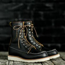 RED WING 8 INCH MOC TOE BOOTS 8829 BLACK KLONDIKE BILLY BOOT SOLD OUT SIZE 7.5