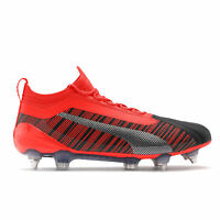 PUMA Official Mens One 5.1 Soft Ground Football Boots Shoes Black