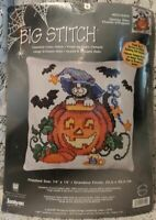 Janlynn SPOOKY KITTY Halloween Counted Cross Stitch Kit 023-0454 Baatz BigStitch
