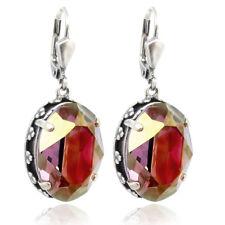Jugendstil Ohrringe mit Kristallen von Swarovski® Lila Violett Silber NOBEL SCHM