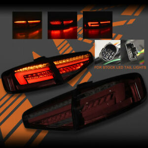 Smoke Red LED Sequential Tail Lights for AUDI A4 S4 B8 Sedan 12-15 LED Type Only