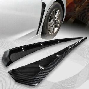 2Pcs 3D Carbon Fiber Car Fender Blade Side Shark Gills Vent Trim Cover Accessory