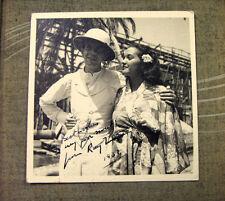 "RAYMOND MASSEY AUTOGRAPHED PHOTO with MAMO CLARK from  ""THE HURRICANE""  1937"