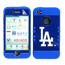 MLB Los Angeles Dodgers Hybrid Cover for Apple iPhone 4 4S 4G S Protector Case